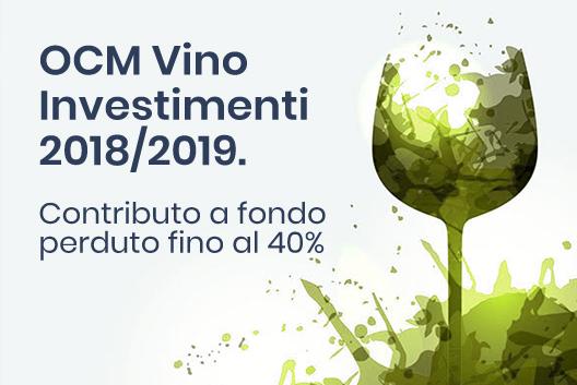 OCM Vino Investimenti 2018-2019 Contributo a fondo perduto fino al 40% nel settore vitivinicolo